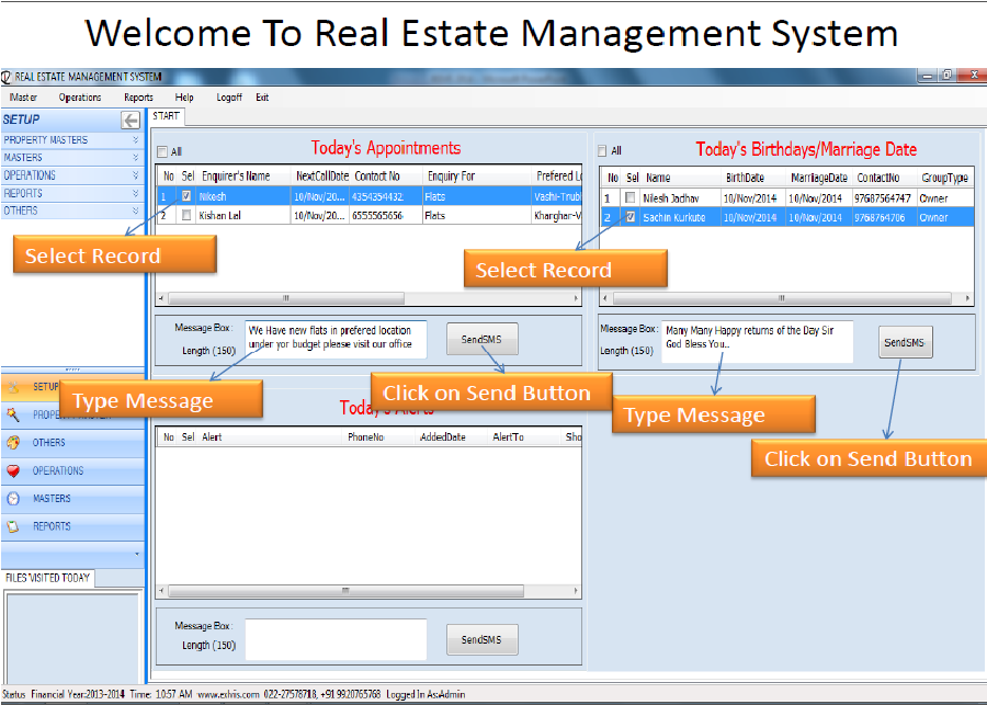 Dissertation in real estate management system